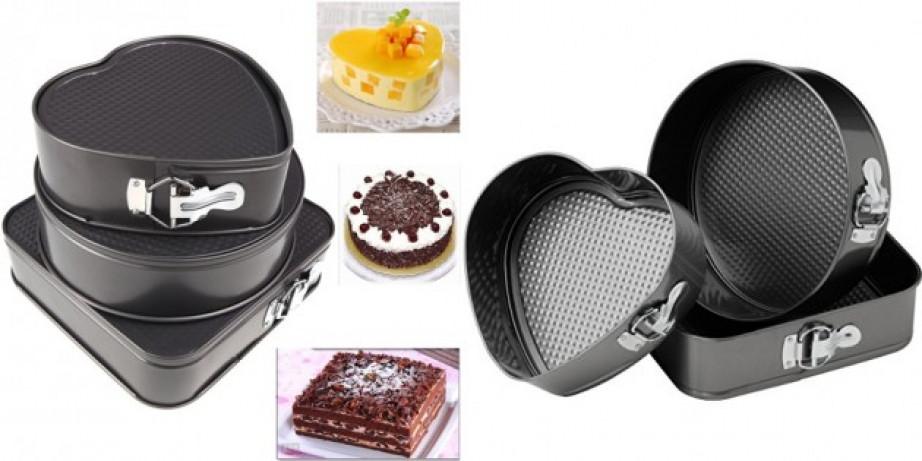 1500 din za set od 3 kalupa (pravougaonik, krug i srce) za pripemu torti i kolača!
