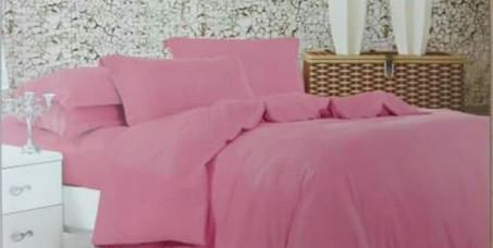 2950 din za posteljinu za bračni krevet - jednobojni roze dezen - 100% pamuk (čaršaf, navlaka za jorgan, 2 jastučnice)!