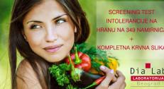 1460 din za test intolerancije na hranu (349 namirnica) + kompletna krvna slika, leukocitna formula, glukoza, holesterol, HDL, LDL i trigliceridi u Dia Lab-u!